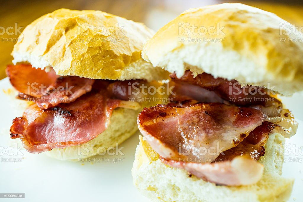 Bacon Rolls. stock photo