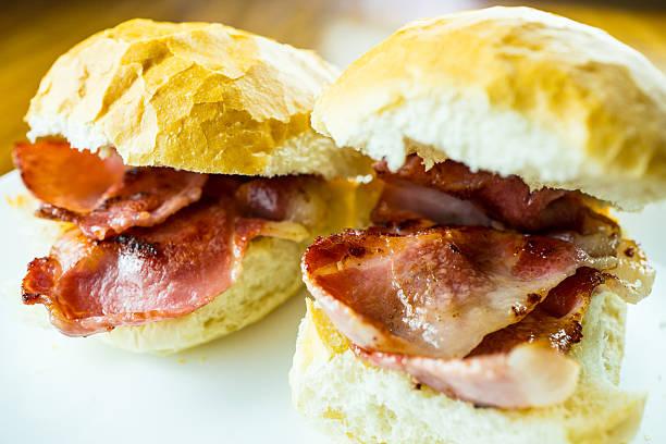 Bacon Rolls. stock photo