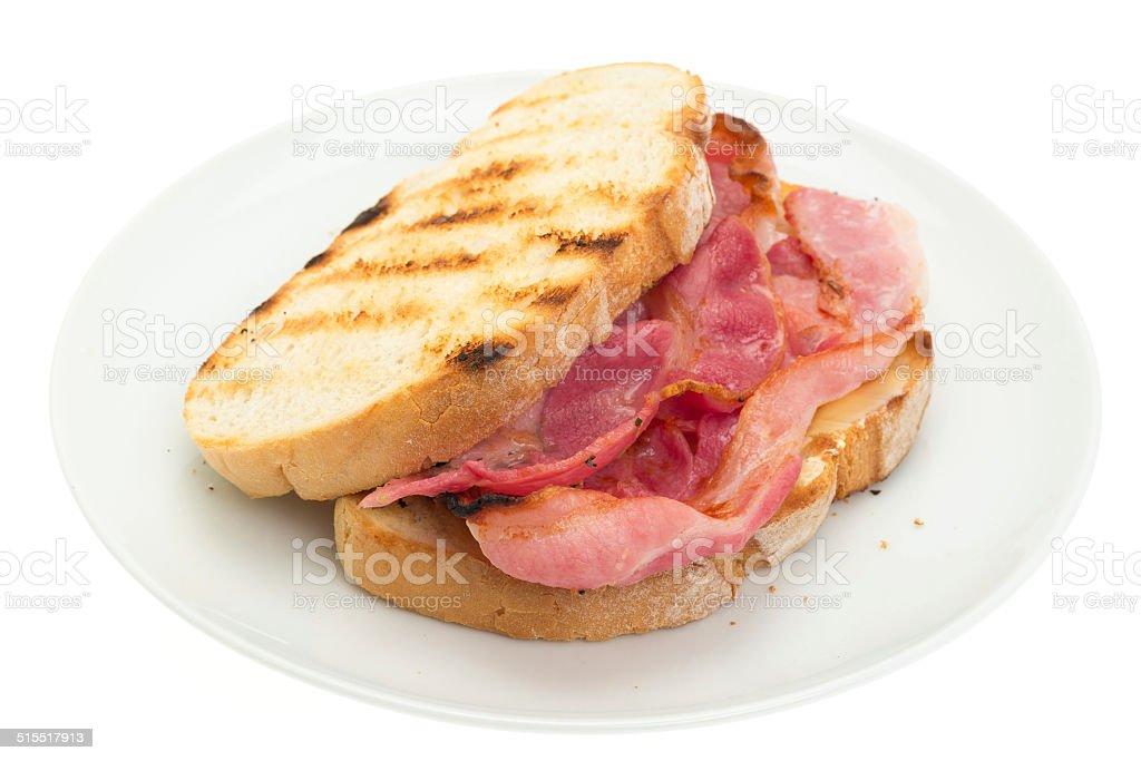 Bacon sandwich stock photo