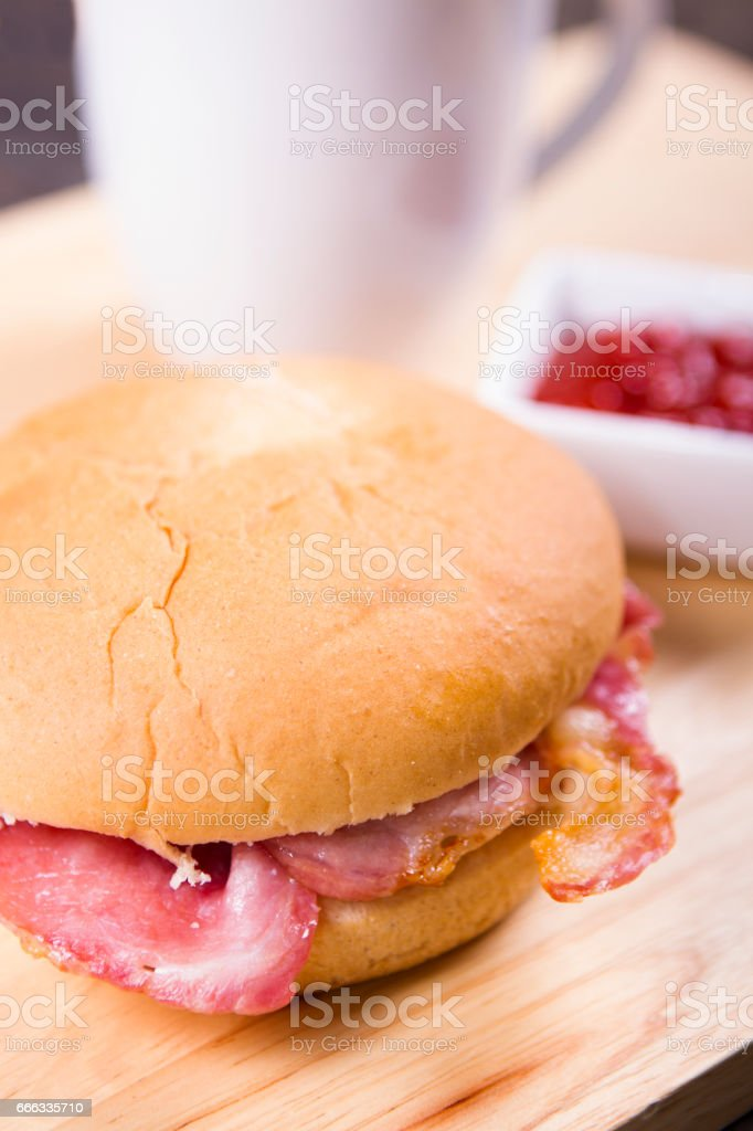 Bacon sandwich stock photo