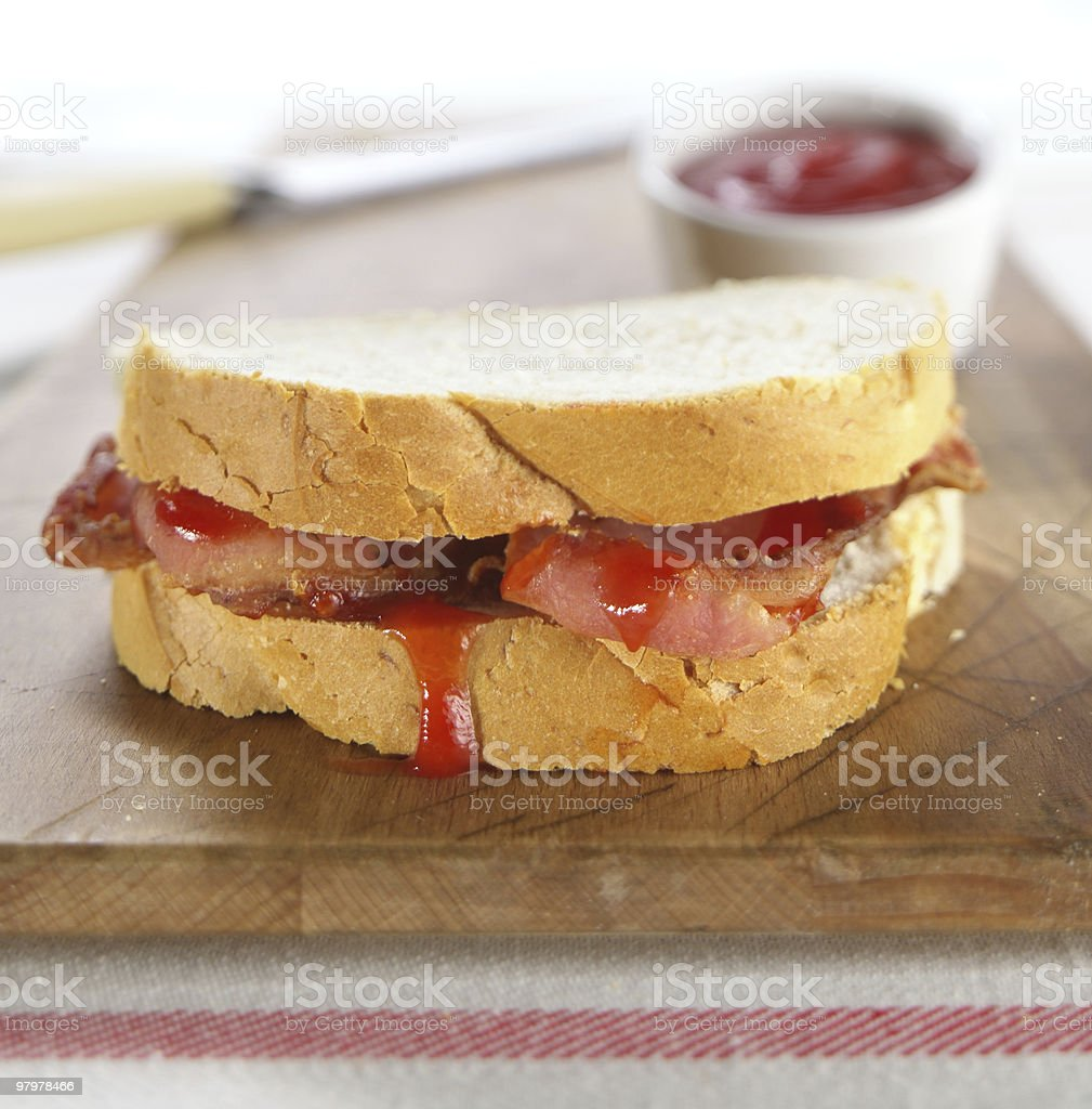 Bacon Sandwich royalty-free stock photo