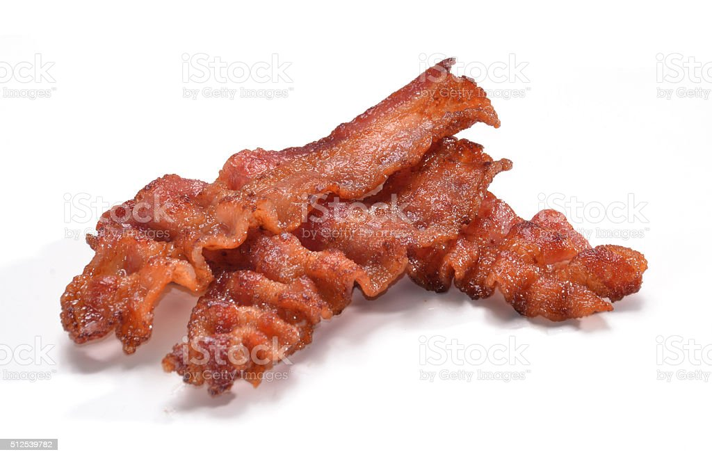 Bacon slices. stock photo