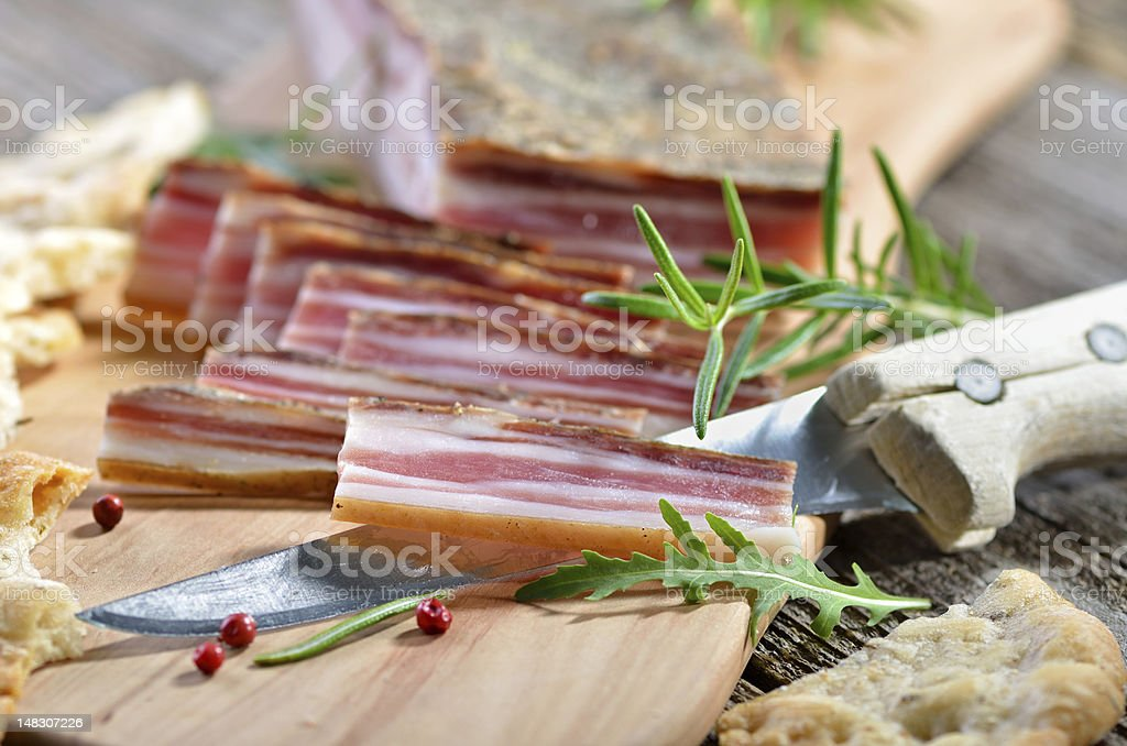 Bacon snack stock photo