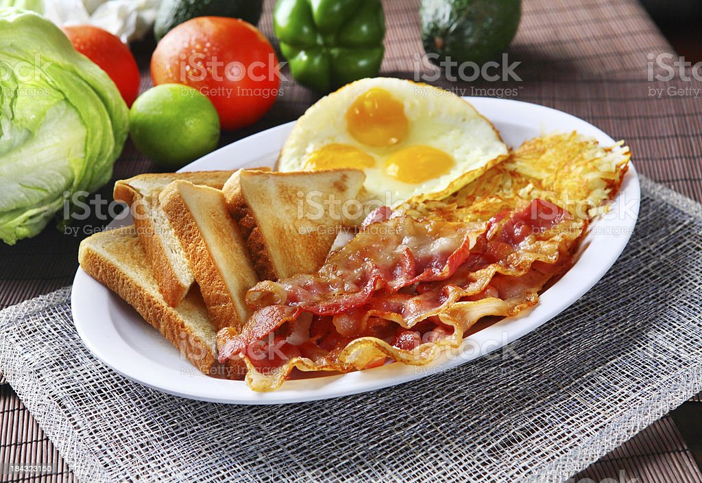 Bacon & Toast stock photo
