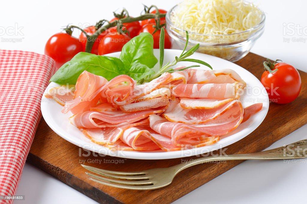 bacon with garnish royalty-free stock photo