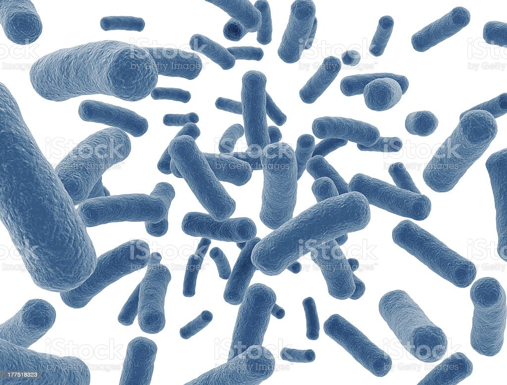 Bacteria cells isolated on white background stock photo