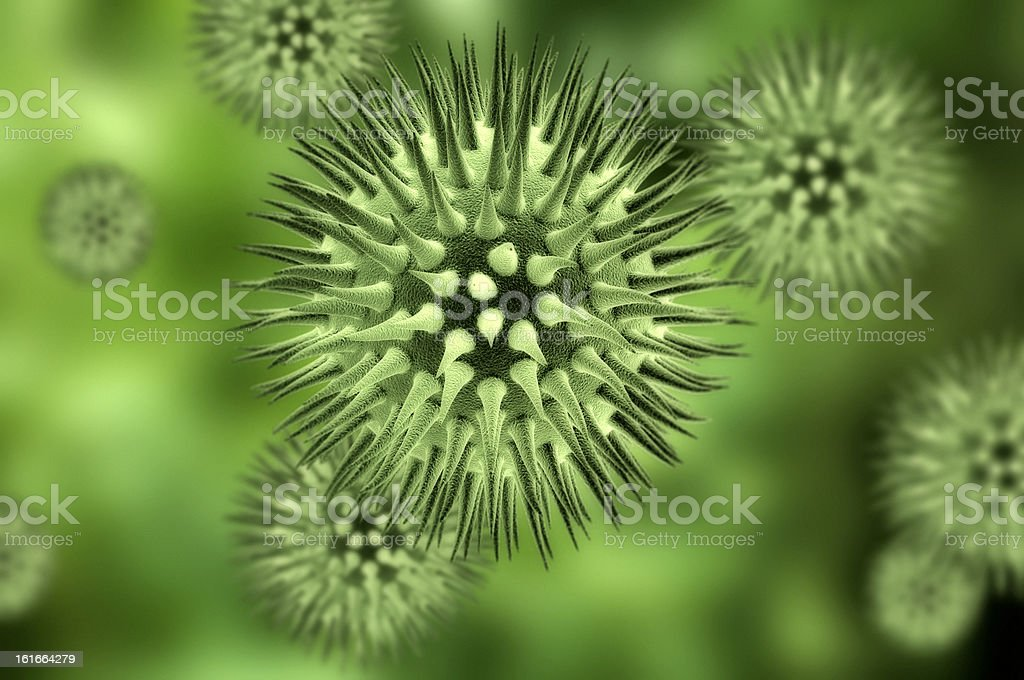 Bacteria cells royalty-free stock photo