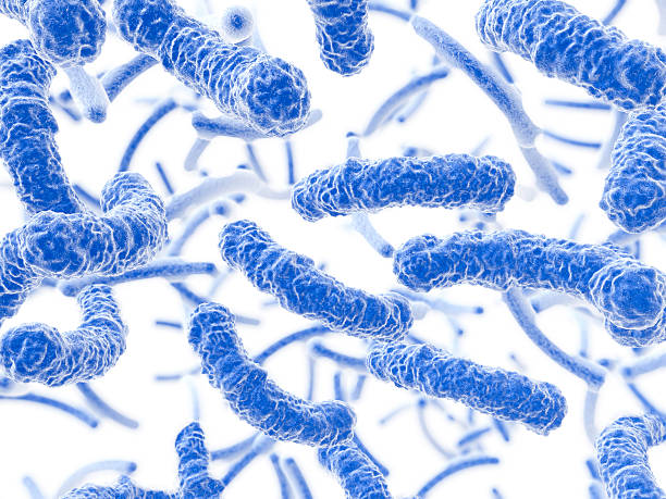 Bacteria flowing stock photo