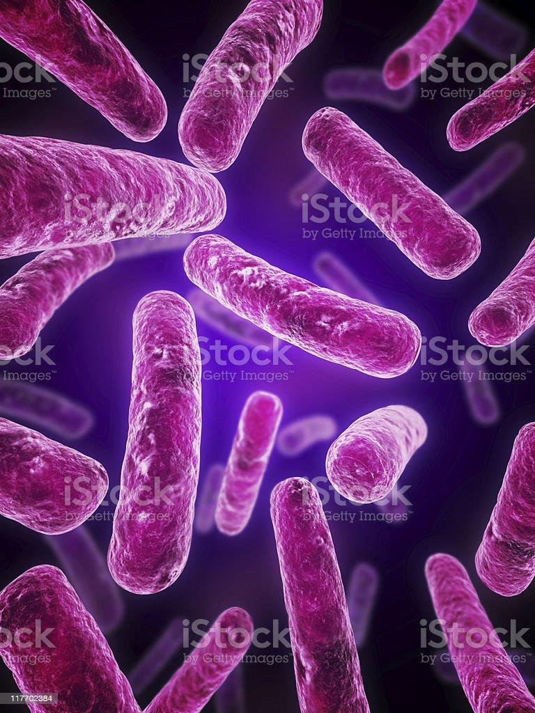 Ilustración de bacterias - foto de stock
