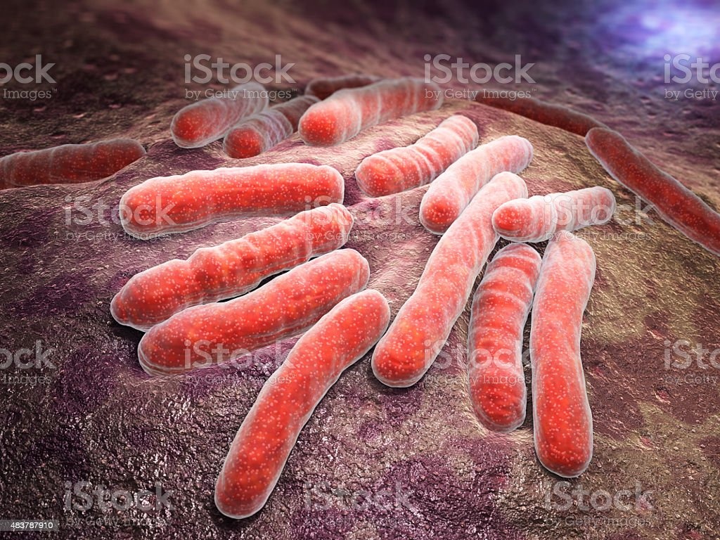 Bacterial infection tuberculosis stock photo