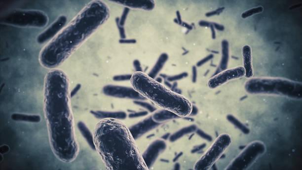 Bacterium closeup stock photo