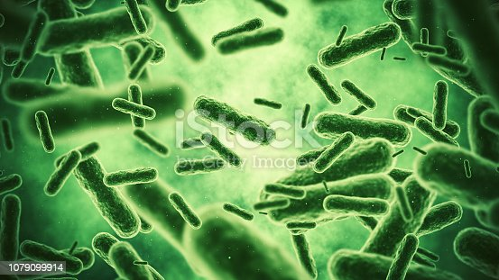 3d render Bacterium (depth of field)