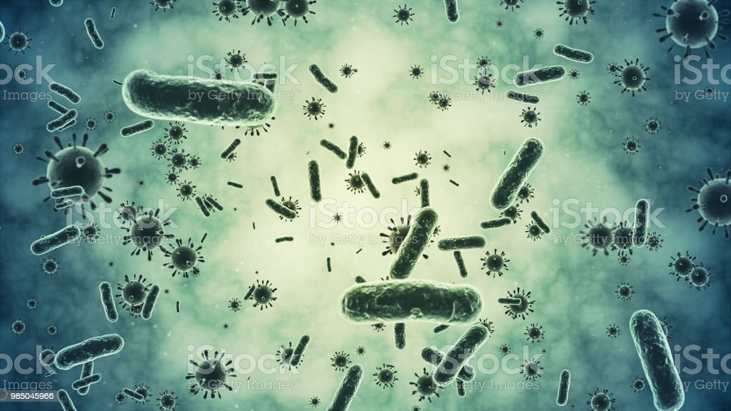 Bacterium closeup stock photo