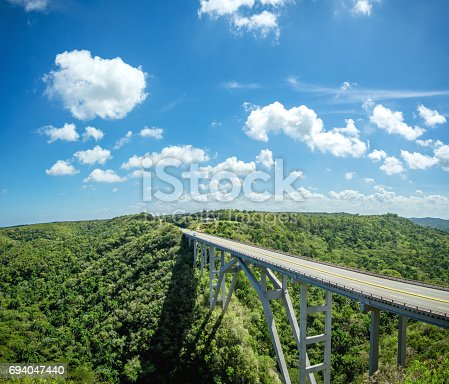 istock Bacunayagua bridge, tallest bridge in Cuba 694047440