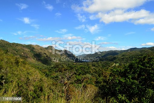 View of the beautiful valley. Bacunayagua, Cuba