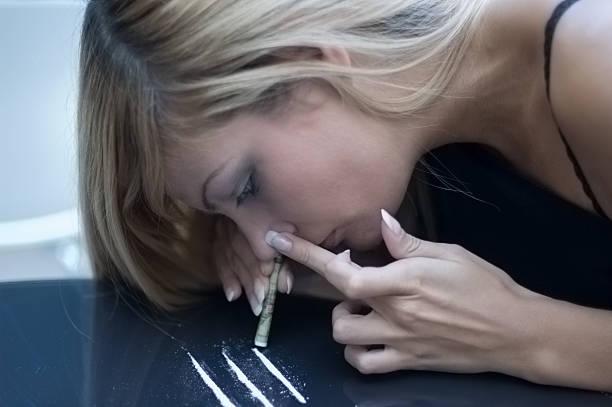 Schlechte addicion Schniefen Drogen – Foto