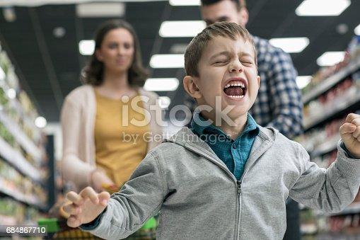 istock Bad boy in supermarket 684867710
