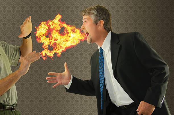 Bad breath chronic halitosis humor stock photo