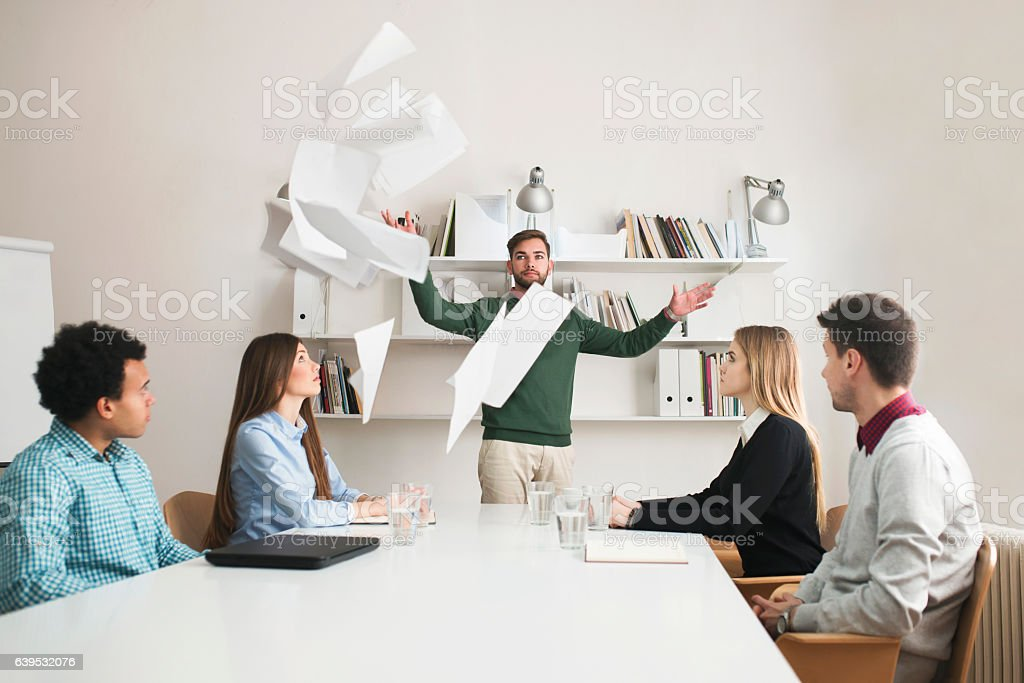 Bad Business Results stock photo