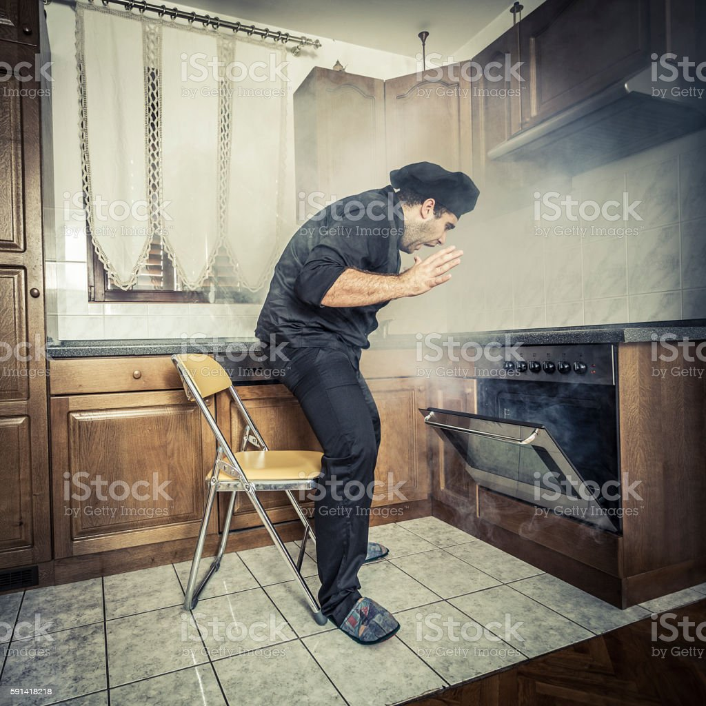 Bad chef stock photo