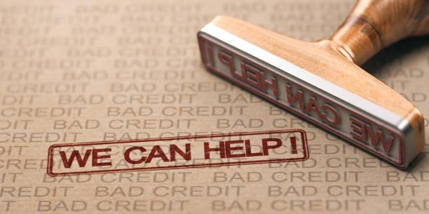 Schlechte Kreditkorrektur. Debt Solutions Konzept. – Foto