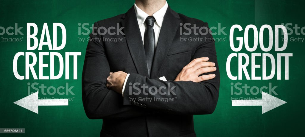 Bad Credit - Good Credit stock photo