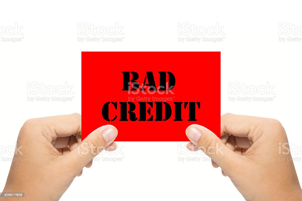 Bad credit stock photo