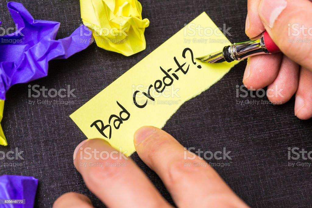 Bad Credit? stock photo