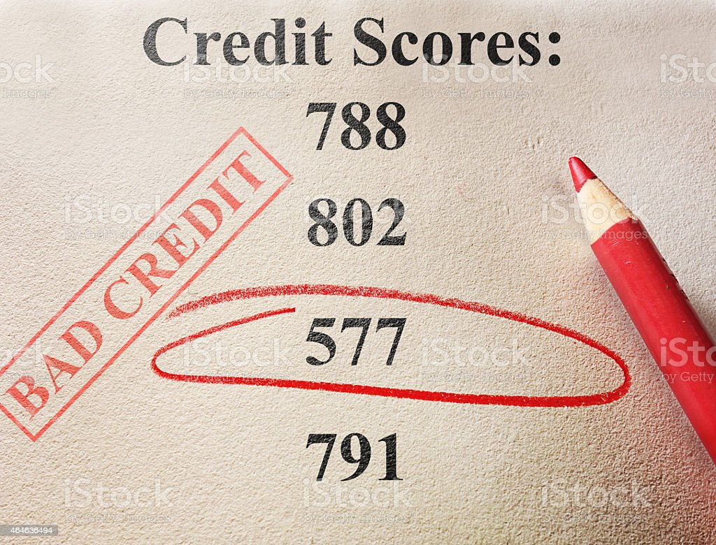 bad credit score stock photo