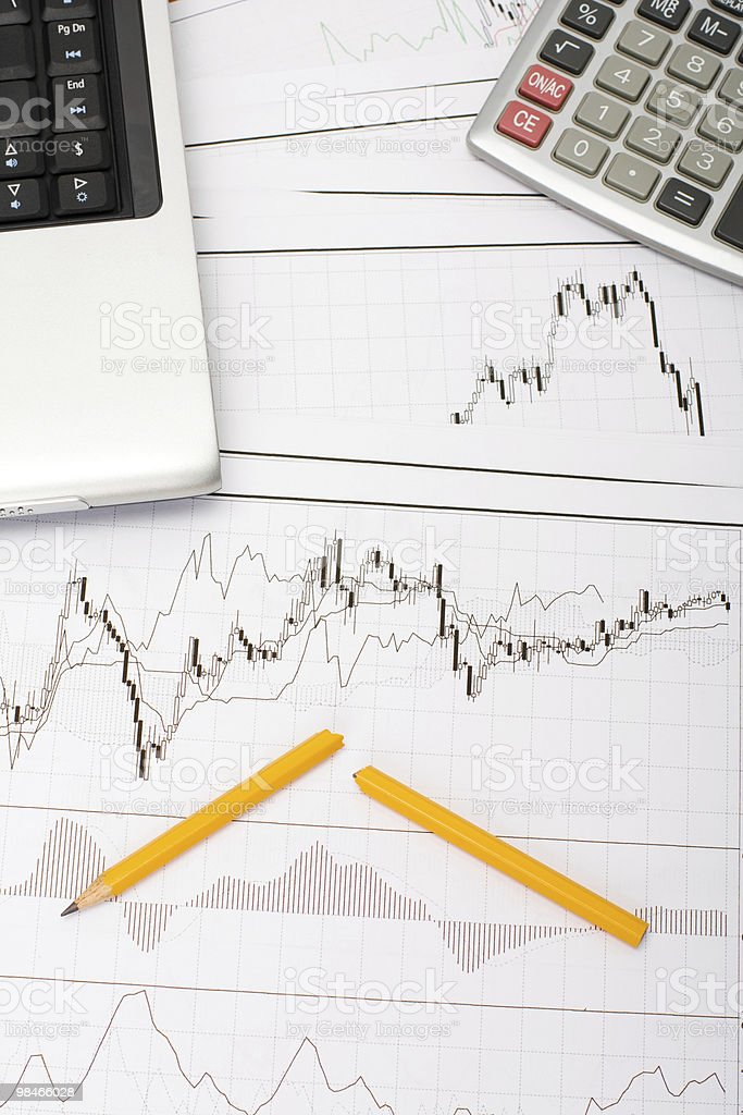Bad day at stock exchange. royalty-free stock photo