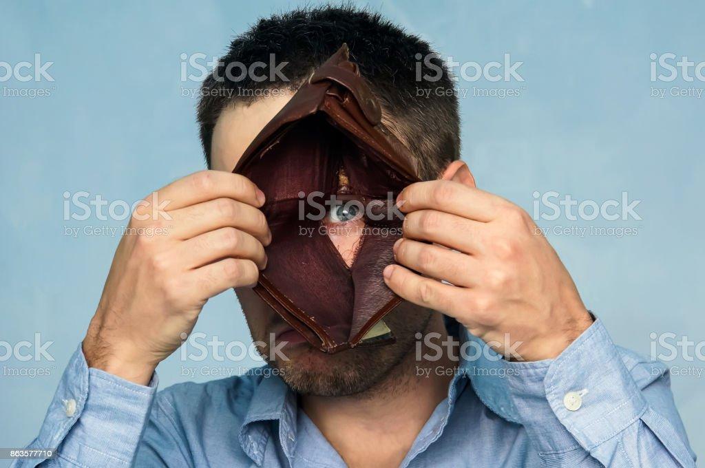 bad economy concept. Negative emotion stock photo