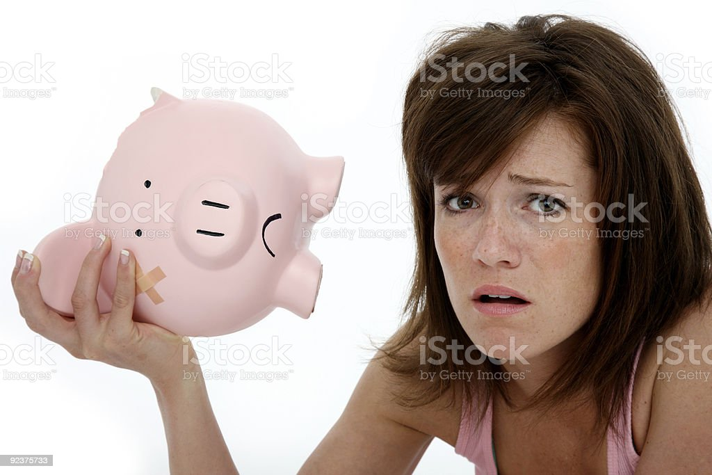 Bad economy royalty-free stock photo