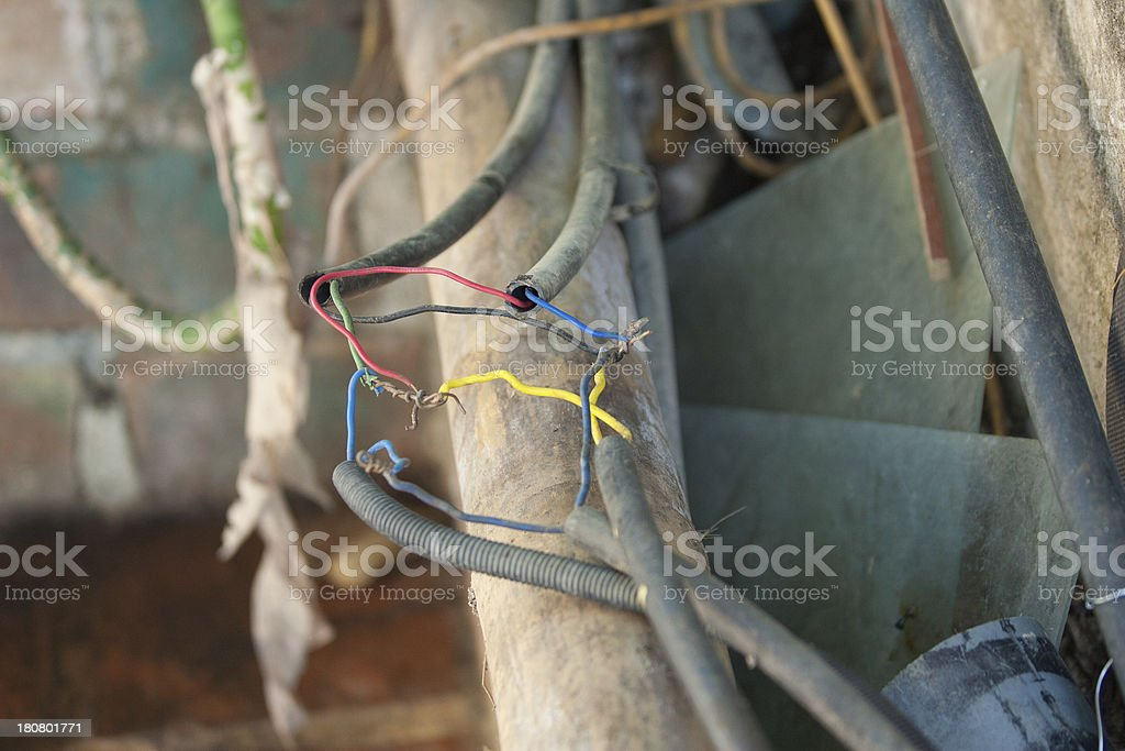 bad electrical connections wiring royalty-free stock photo
