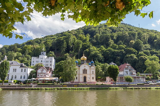 Bad Ems at the river Lahn Buildings