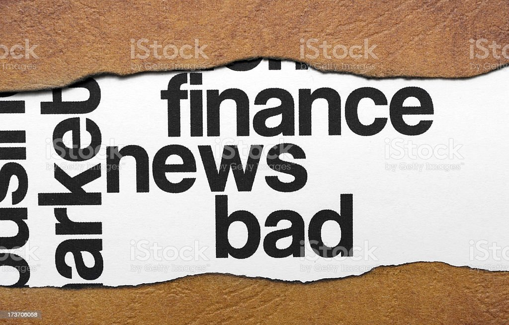Bad finance news royalty-free stock photo