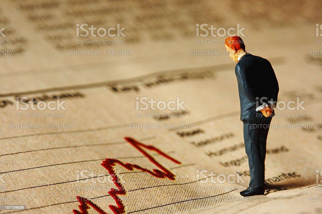 Cattive notizie finanziarie - foto stock