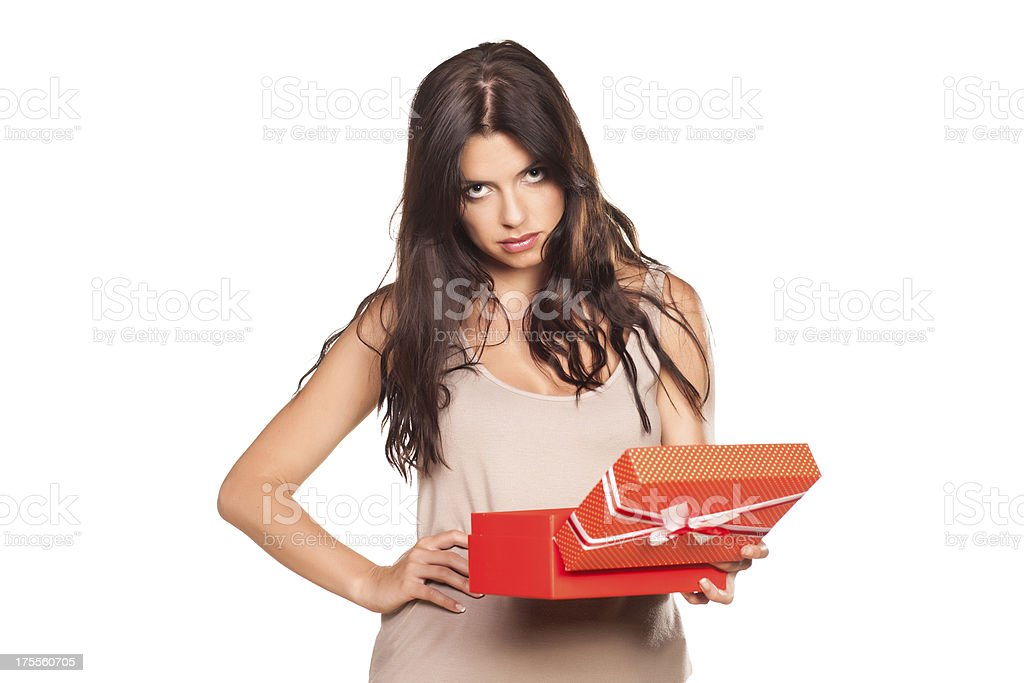 bad gift stock photo