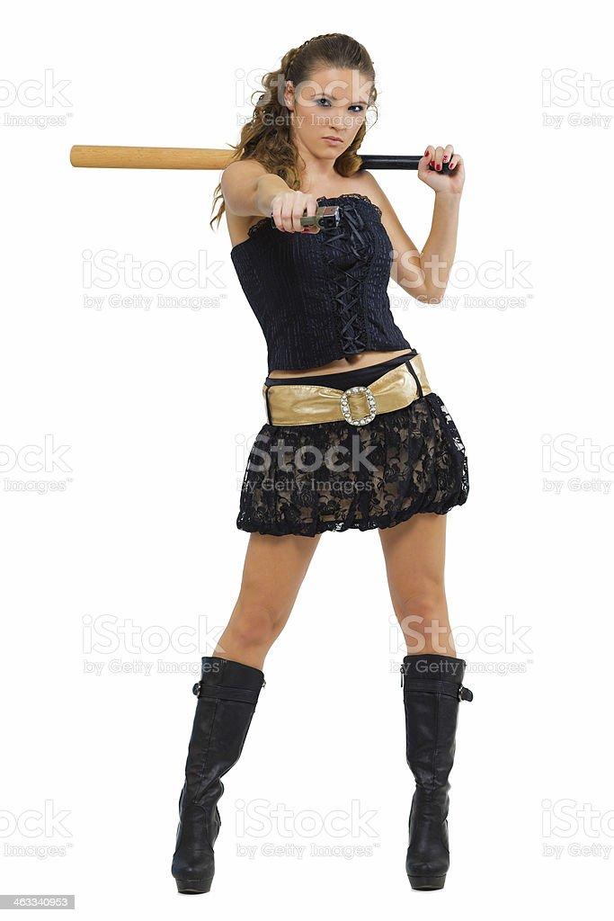 Bad girl stock photo