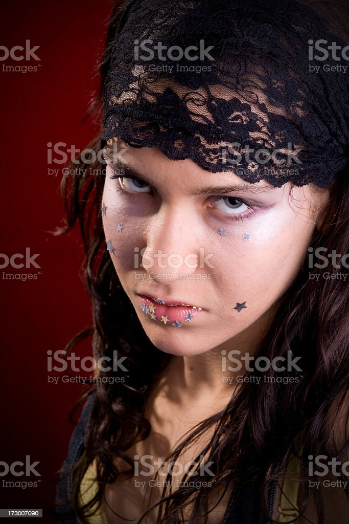 Bad girl portrait royalty-free stock photo