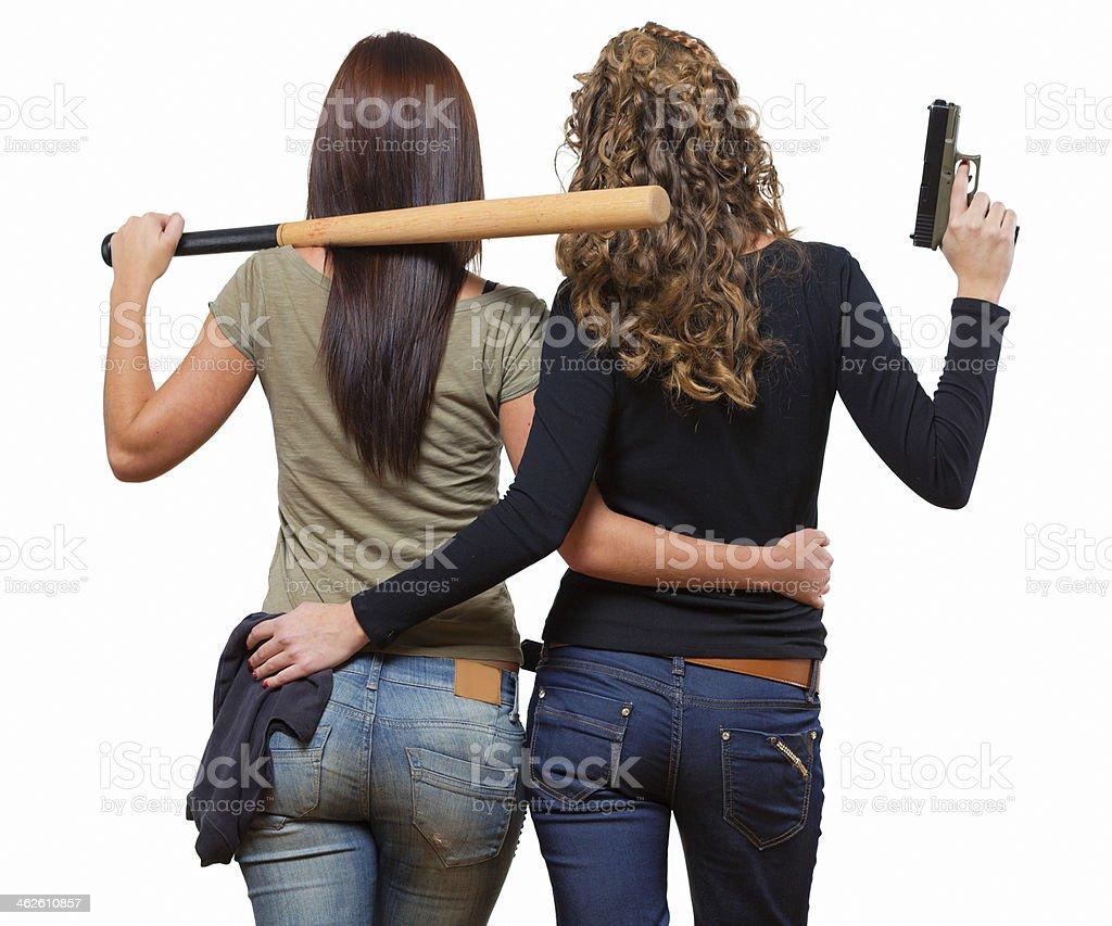 Bad girls stock photo
