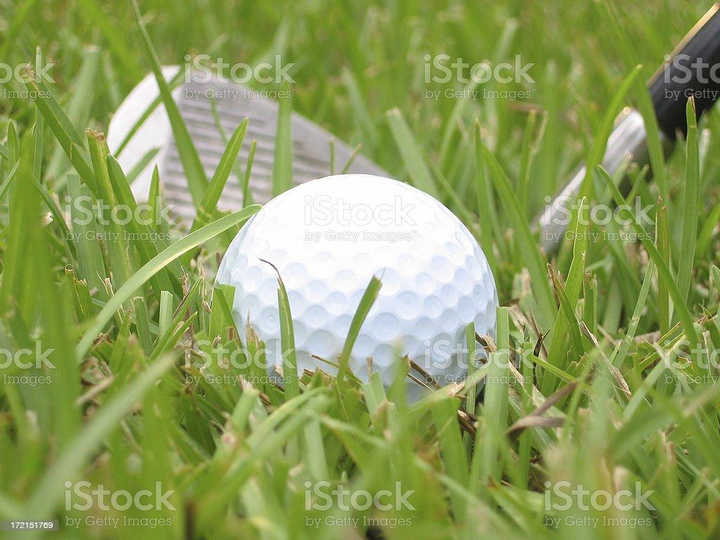 bad golf lie landscape stock photo