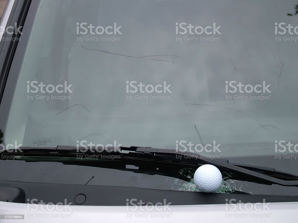 Bad Golf Swing stock photo