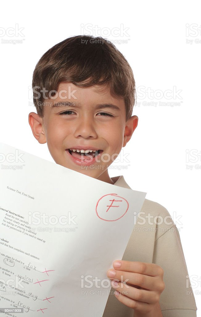 Bad Grade royalty-free stock photo