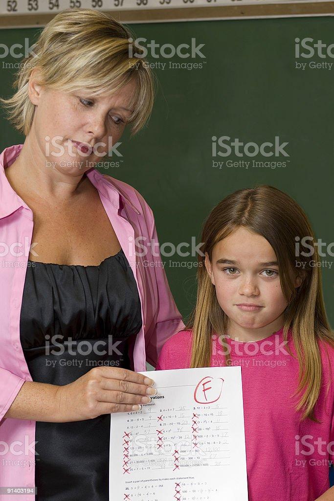 Bad Grades royalty-free stock photo