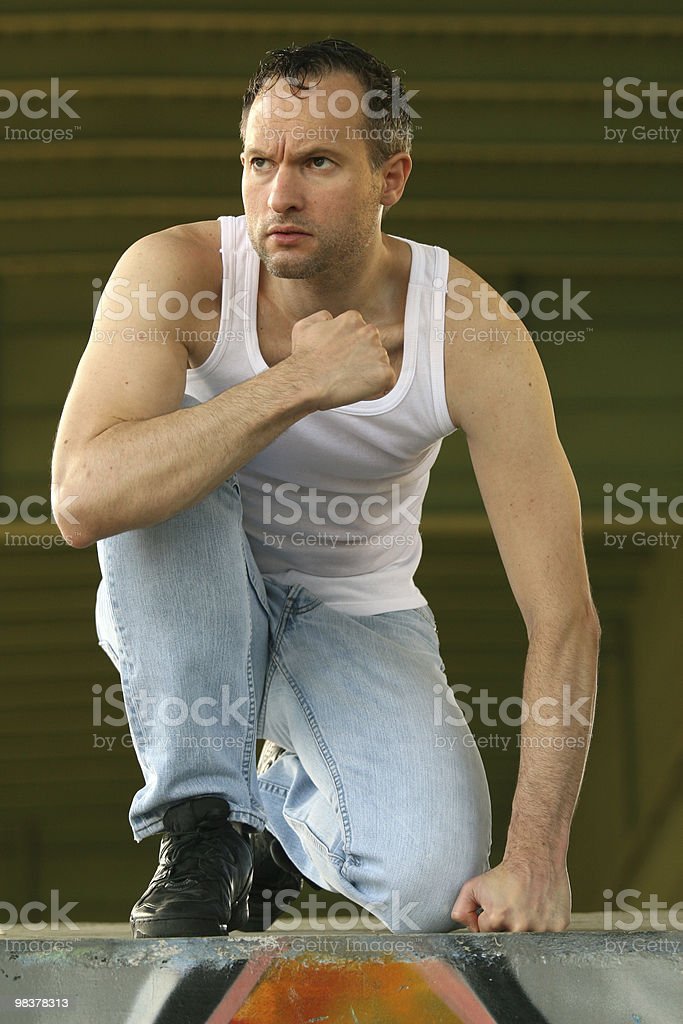 bad guy ready to fight royalty-free stock photo