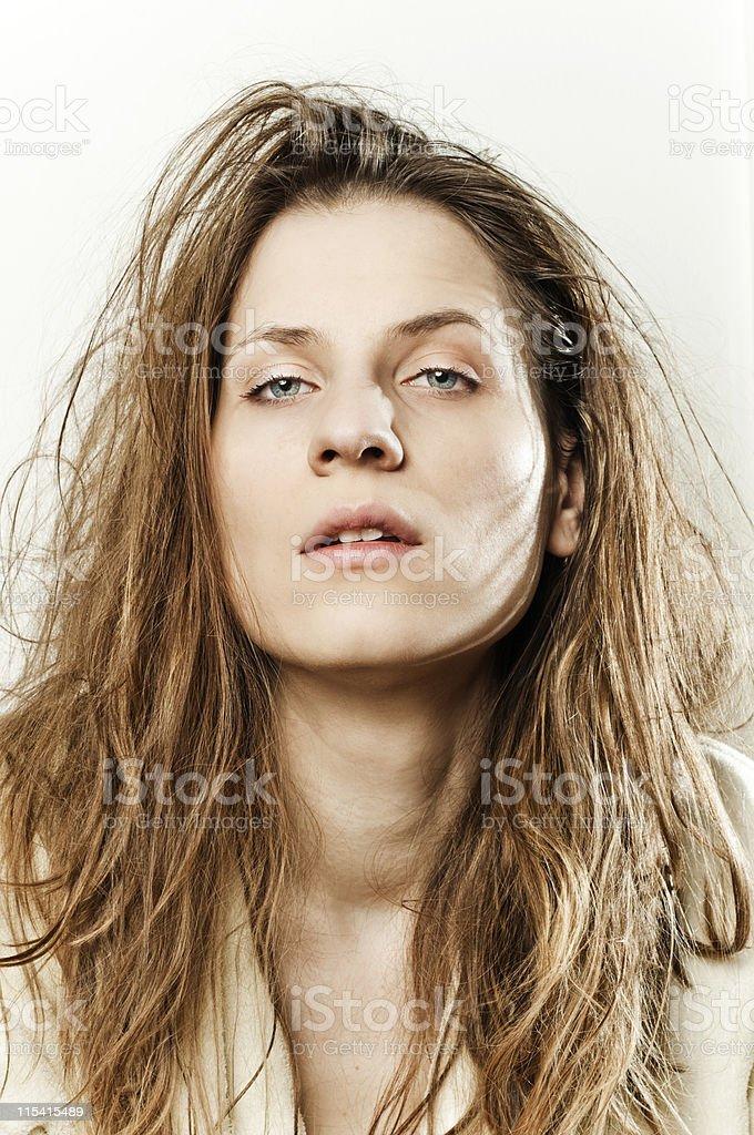 bad hair day royalty-free stock photo