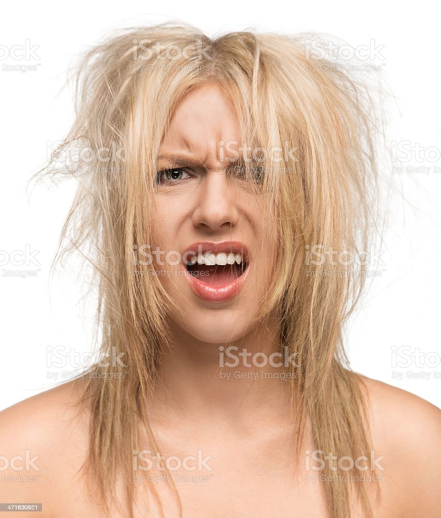 Bad hair day stock photo
