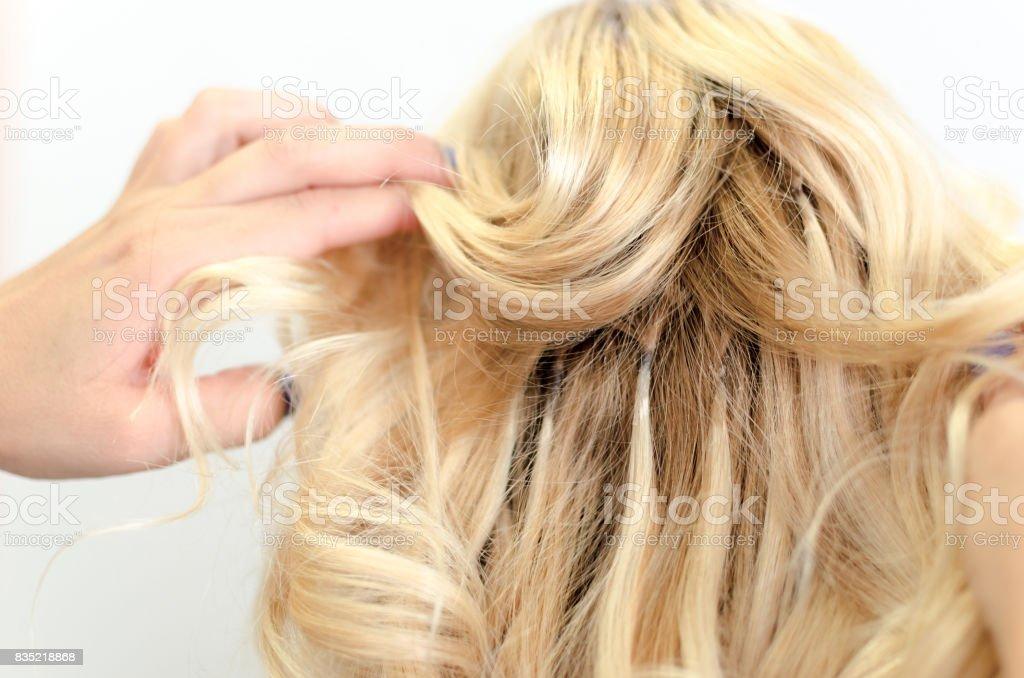 Extensão de cabelo ruim - foto de acervo