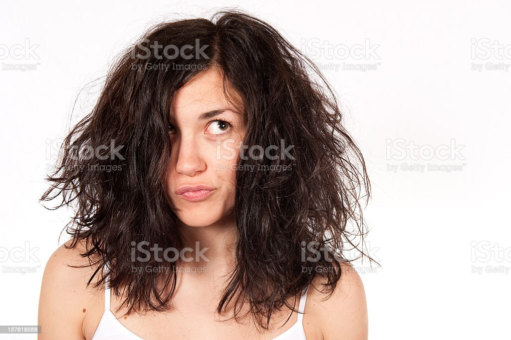 Bad Hair royalty-free stock photo