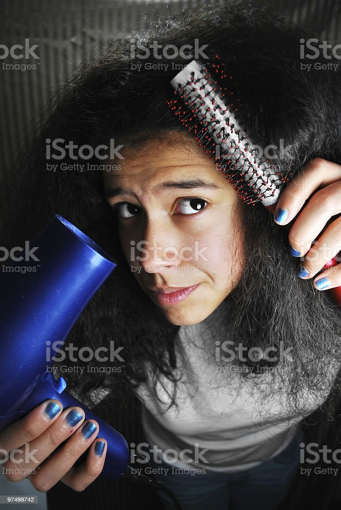 Bad Hair Session royalty-free stock photo